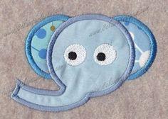 Elephant Head Applique by 8clawsandapaw on Etsy, $1.95