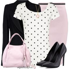 Black, Pink & White, created by mhuffman1282 on Polyvore