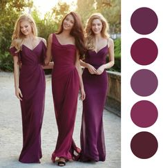 Ideas de Vestidos de Colores para las damas | Mismatched Colors Bridesmaids Dresses Ideas #bridesmaids #dresses #colors #wedding www.noviaticacr.com