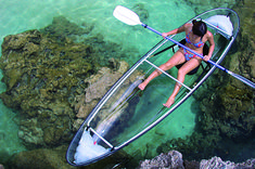 Sea Thru Kayaks VI, the US Virgin Islands only clear Kayak, located on St. Croix, USVI