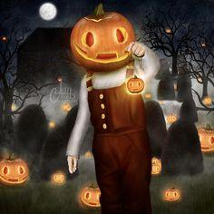 Spooky Pumpkin Child?😂 Spooky Pumpkin, Pumpkin Carving, Challenges, Halloween, Digital, Children, Drawings, Instagram, Art
