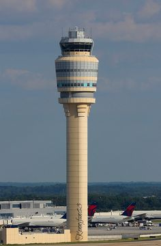 Air Traffic Control Tower @ Heartsfield -Jackson International in Atlanta Georgia