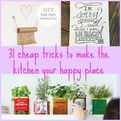 31 Inexpensive Ways To Make The Kitchen Your Happy Place