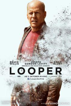 Looper - Charakter Plakat mit Bruce Willis