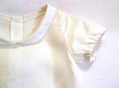Linen Peter Pan Collar Back Button Blouse on etsy