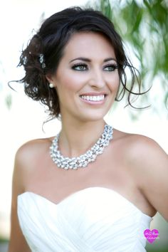Las Vegas Wedding Hair and Makeup- Smokey Eye Bridal Look