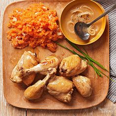 Sweet potatoes are an excellent source of vitamins A and C. Slow-cook them alongside chicken thighs and drumsticks in this tangy, spiced recipe traditional to the Philippines.  /
