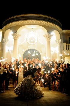 Incredible sparkler exit! ...it just doesn't get prettier than this! | Photo by Bellalu Photography via http://limnandlovely.com