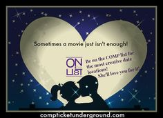 Are you looking for the perfect date night out?  Join OntheList for comp tickets all year long for one low price!  #DateNightOut #BestTicketMembership #HappyWifeHappyLife