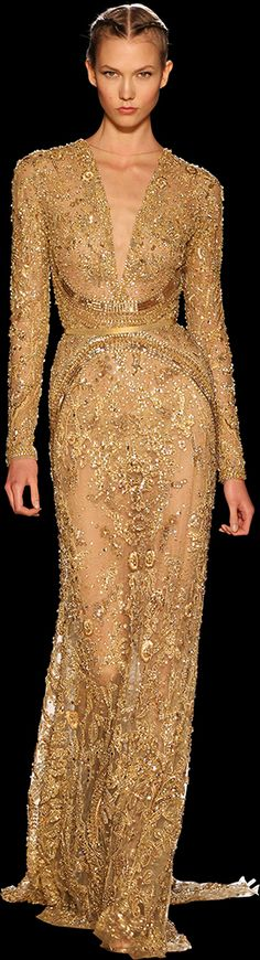 Karlie Kloss for Elie Saab Haute Couture Autumn/Winter 2012 Style Haute Couture, Couture Fashion, Runway Fashion, High Fashion, Woman Fashion, Dress Fashion, Beautiful Gowns, Beautiful Outfits, Fashion Vestidos