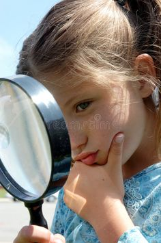 Photo about Girl with a magnifying glass. Image of lips, vision, look - 115916 Matilda Roald Dahl, Take That, Let It Be, Creative Icon, Magnifying Glass, Icon Design, Design Inspiration, Icons, Stock Photos