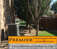 Are your trees too close to your foundation? Trees can remove a lot of moisture from the ground causing foundation problems. - PremierFoundationRepair.com