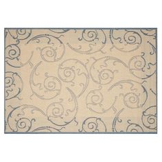 Safavieh Courtyard Swirl Indoor Outdoor Rug, Beig/Green (Beig/Khaki)