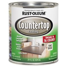 Shop Rust-Oleum Specialty Interior Satin Countertop Tintable Multiple Oil-Base Paint (Actual Net Contents: 29-fl oz) at Lowes.com
