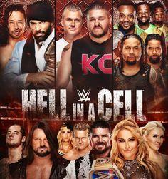 Hell in a cell PPV Shinsuke Nakamura vs Jinder Mahal, AJ Style vs Kevin Owen