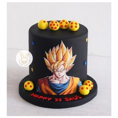 Goku Birthday, Dragon Birthday, Ball Birthday, Cars Birthday Parties, 11th Birthday, Birthday Cake, Creative Cake Decorating, Creative Cakes, Tarta Dragon Ball