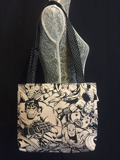 Pen & Ink Style Marvel Lightweight Bag by OhNeaux on Etsy