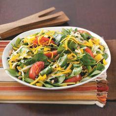 Black Bean Spinach Salad Recipe