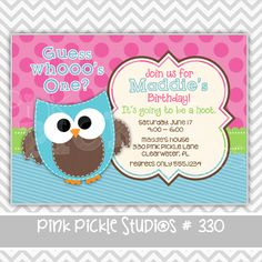 Have a Hoot Owl Personalized Party Invitation-personalized invitation, photo card, photo invitation, digital, party invitation, birthday, shower, announcement, printable, print, diy,animal