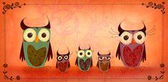 Owl Family by *Huguettepizzic on deviantART