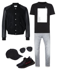 """""""Untitled #234"""" by alla-moda on Polyvore featuring Scotch & Soda, Yeezy by Kanye West, Yves Saint Laurent, Maison Margiela, Bally, NN.07, men's fashion and menswear"""