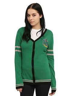 Harry Potter Slytherin Girls Cardigan, GREEN