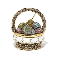 "Shop Heidi Daus ""Easter Basket"" Crystal and Enamel Pin, read customer reviews and more at HSN.com."