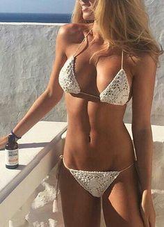 Andi Bagus white crochet bikini