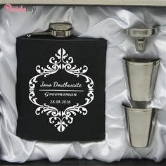 """Key Features:Category:Drinkware&Barware & Bottle FavorsPersonalization:Personalized Themes:Classic ThemeSeasons:Spring, Summer, Fall, WinterMaterials:Stainless SteelOccasion:Wedding, AnniversaryBrand Name: BridelilyWidth 3.34"""" (8.5 cm) Thickness 0.78"""" (2 cm)Height 4.13"""" (10.5 cm)Packing: 0.29 kgCapacity:180ml(6-oz)Pacing:Gift BoxAny questions about the item, feel free to Contact Us Burning Incense, Incense Cones, Incense Holder, Personalized Wedding Gifts, Response Cards, Glazed Ceramic, Handicraft, Flask, Wedding Favors"""