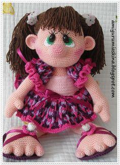 Knitting Amigurumi Love of My toys: Directions-Amigurumi Amigurumi Doll Free Pattern