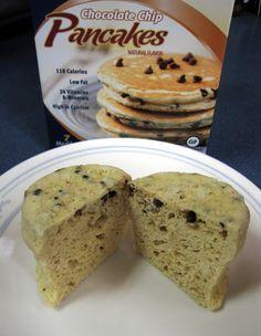 Medifast Chocolate Chip Pancakes as a mug muffin