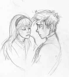 Peter Parker and Gwen Stacy by Burdge-bug. (The Amazing Spiderman.) this art style seems strangely familiar Couple Drawings, Love Drawings, Drawing Sketches, Art Drawings, Sketching, Character Sketches, Character Art, Character Design, Elf Draw