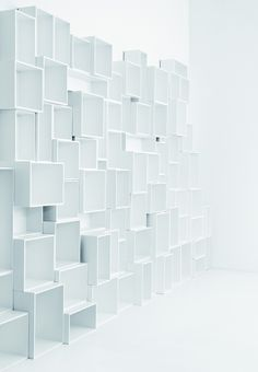 Modular storage wall by Cubit by Mymito design Cubit