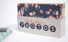 photo storage box using the free shape of the week 7/9