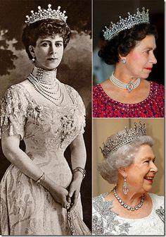 Queen Alexandra wearing a tiara which her great granddaughter, Queen Elizabeth has been wearing throughout her reign.