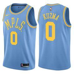 fd442526aea Men 0 Kyle Kuzma Jersey Blue MPLS Los Angeles Lakers Swingman Fanatics