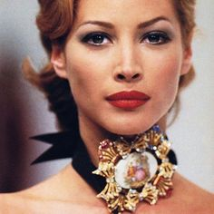 Christy Turlington walked for D&G 1991