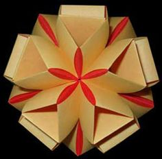 Icosahedron made from paper strips