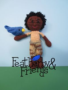 Isaac - Boy Doll in Cotton - Crochet Pattern by Alicia Moore of Featherby & Friends