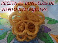RECETA DE BUÑUELOS DE VIENTO A MI MANERA ( LOS ANGELES COCINAN )