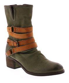 Olive Leather  Endora Boot #zulily #zulilyfinds