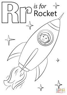 Letter R Is For Rocket Coloring Page From Category Select 29189 Printable