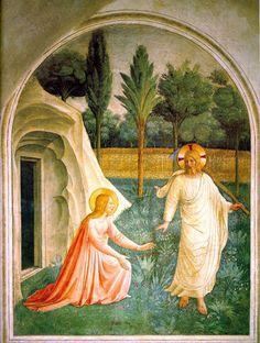 Fra Angelico, Noli Me Tangere, 1440-1442, Convento di San Marco, Florence.