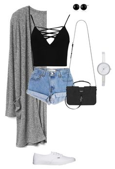 """""""Great World"""" by themarisaolvera on Polyvore featuring Boohoo, Levi's, Vans, Yves Saint Laurent and DKNY"""