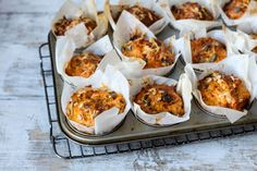 Sweet Potato,  Cheese  and  Chorizo  Muffins