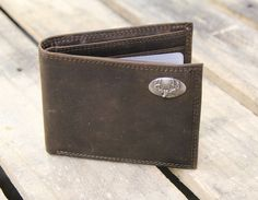 Light Brown Crazy Horse Front Pocket Wallet - Buck by Zeppelin Products