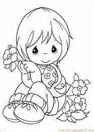 Image result for Precious Moments Christmas Coloring Pages