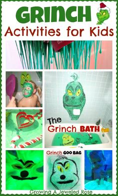 A collection of Grinch themed activities for kids..... because nothing says Christmas like the Grinch!