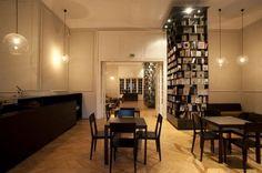 institut-library-cafe. J'avais déjà adoré leur projet de café aux murs ...    crdecoration.com