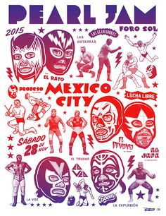 Pearl Jam. Latin America Tour. Mexico City, Mexico. 11/28/2015.